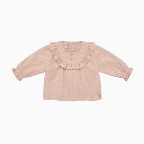 Plumeti Baby Girl Set Bloomer & Sunset Rose Blouse