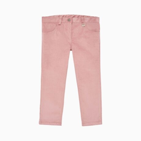 Planet Pink Corduroy Fabric Long Trousers