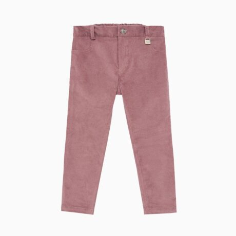 Girl's Long Corduroy Fabric Trousers Cassiopeia Pink Nostalgia