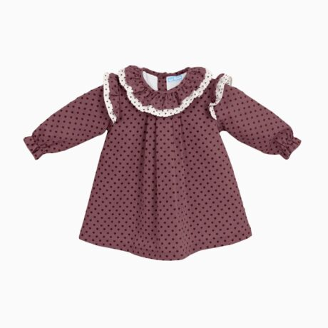 Baby Girl Dress Stars Maroon