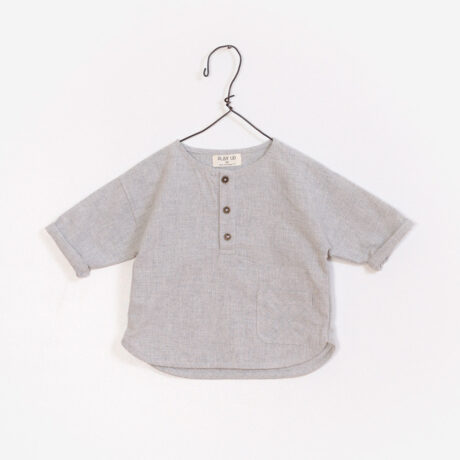 Shirt Baby Boy Neck Mao Gray