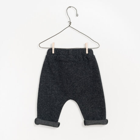 Baby Boy Interlock Pant Marbled Anthracite