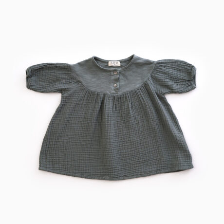Baby Girl Dress Bámbula Green Powdered
