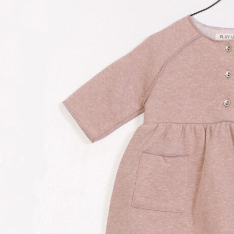 Baby Girl Dress Felpa Pink Powdered