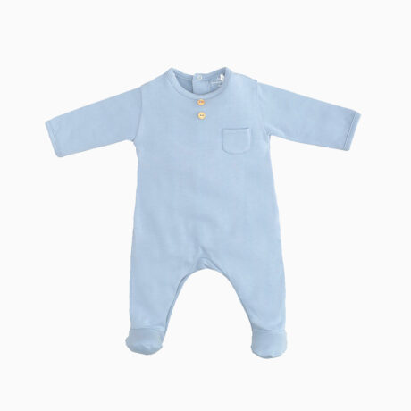 Baby Pajama Suit Cotton Indigo Blue