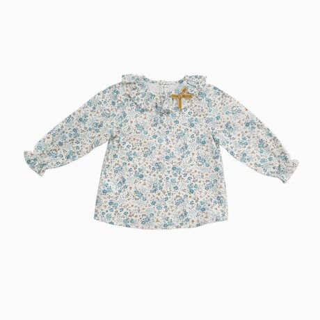 Blouse Baby Girl Flying Neck Flowers