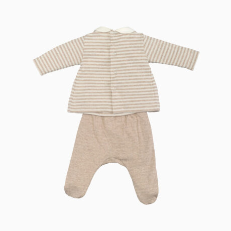 Organic Cotton Stripes Ecru Set