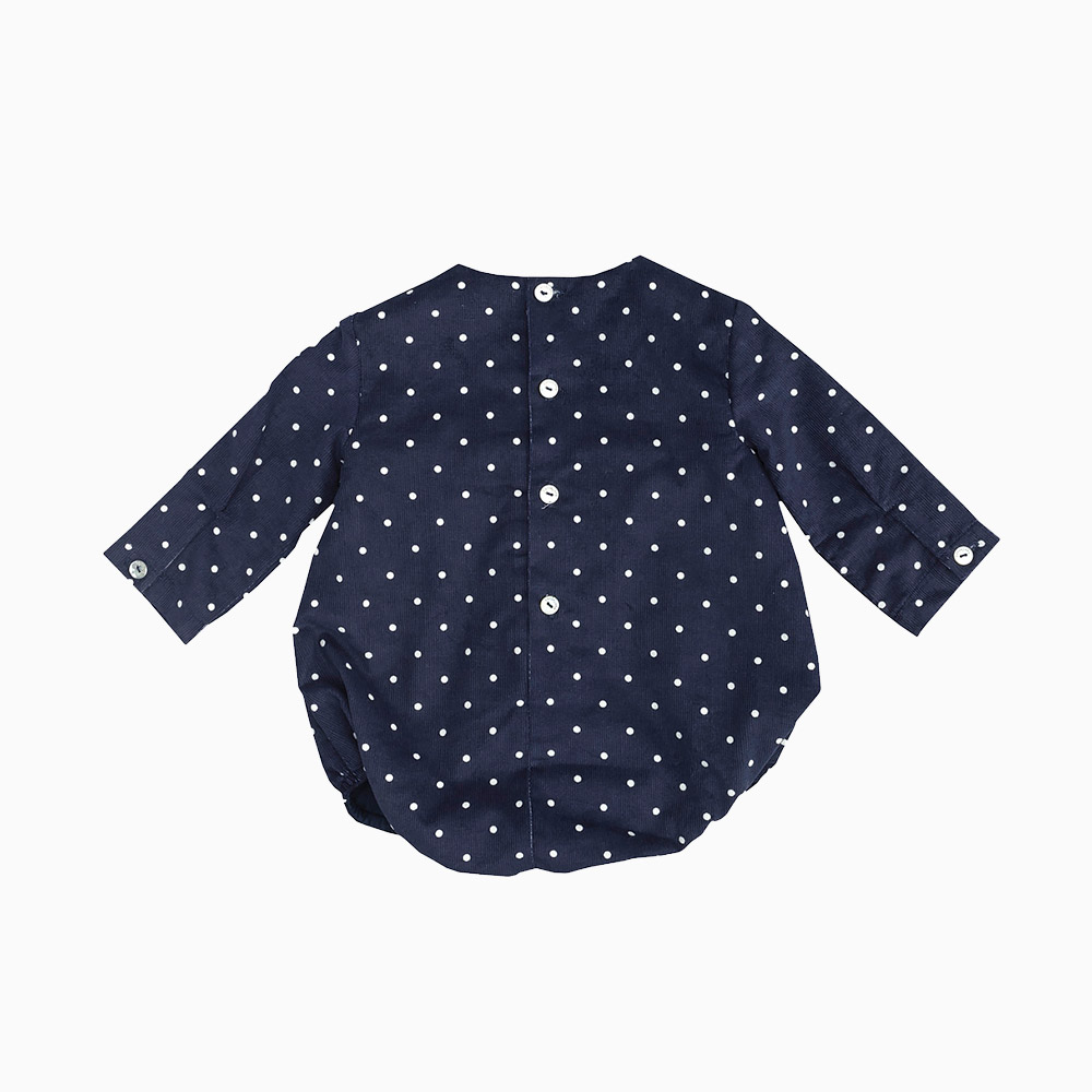 Baby Romper Marine Micro Corduroy Fabric With Dots