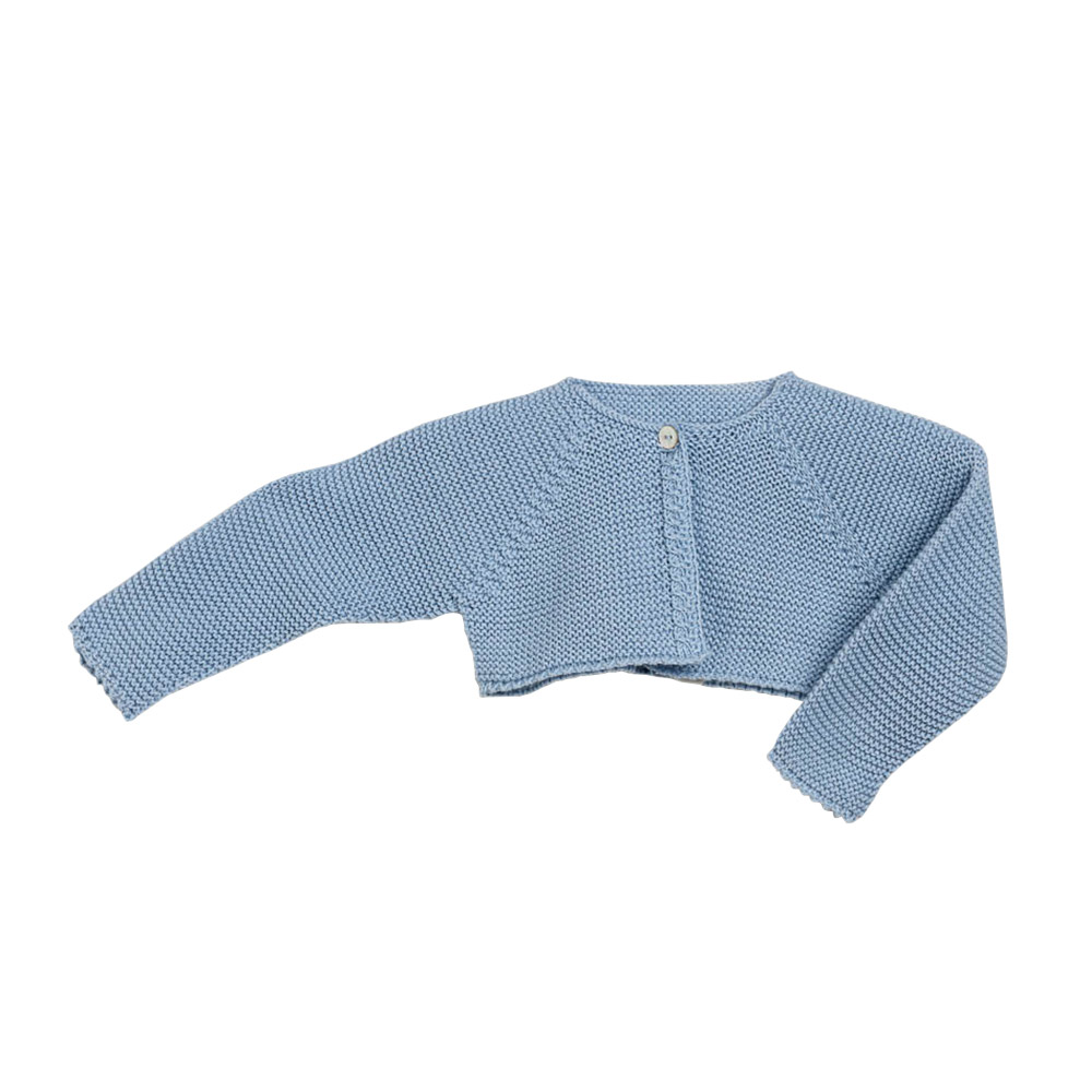 Light blue knitted jacket