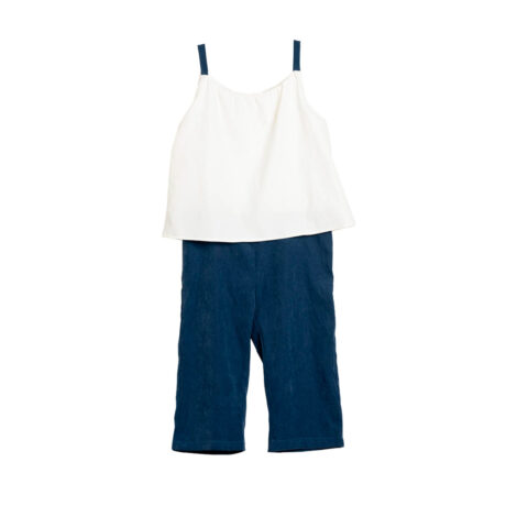 Pleated girl jumpsuit