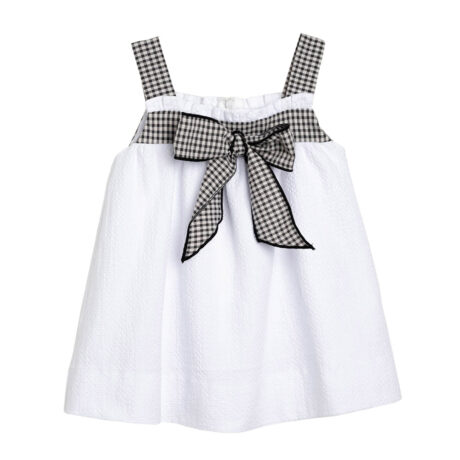 Vichy girl dress
